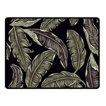 Jungle Leaves Tropical Pattern Double Sided Fleece Blanket (Small)  45 x34 Blanket Back