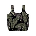 Jungle Leaves Tropical Pattern Full Print Recycle Bag (S) Front
