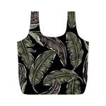 Jungle Leaves Tropical Pattern Full Print Recycle Bag (M) Back