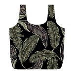 Jungle Leaves Tropical Pattern Full Print Recycle Bag (L) Back