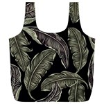 Jungle Leaves Tropical Pattern Full Print Recycle Bag (XL) Back