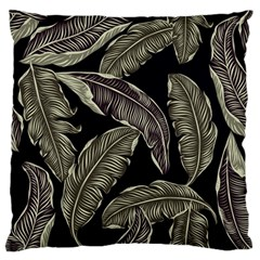 Jungle Leaves Tropical Pattern Large Flano Cushion Case (one Side) by Nexatart