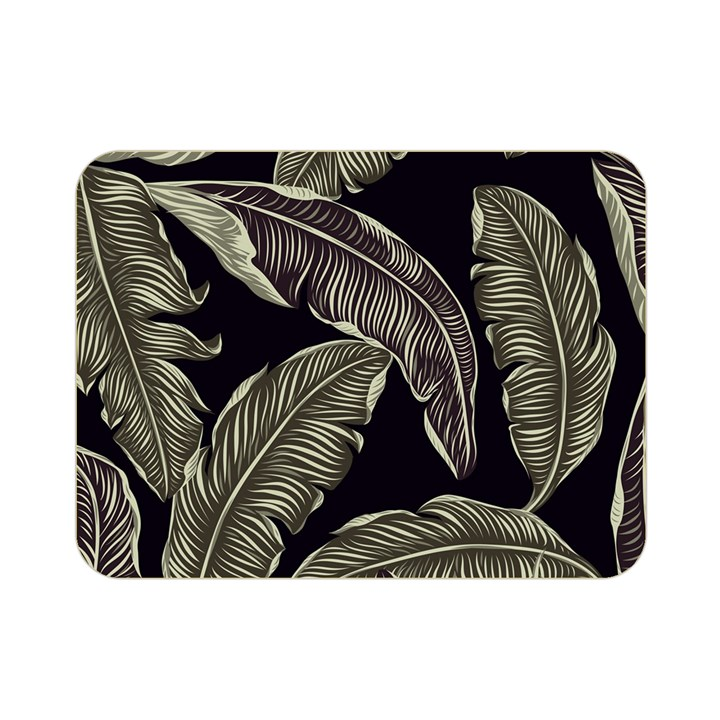 Jungle Leaves Tropical Pattern Double Sided Flano Blanket (Mini)