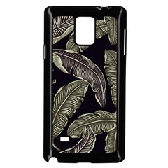 Jungle Leaves Tropical Pattern Samsung Galaxy Note 4 Case (black)