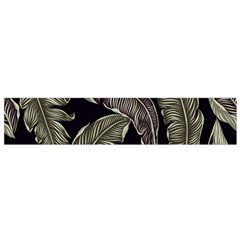 Jungle Leaves Tropical Pattern Small Flano Scarf by Nexatart