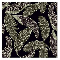 Jungle Leaves Tropical Pattern Large Satin Scarf (square) by Nexatart