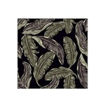 Jungle Leaves Tropical Pattern Satin Bandana Scarf Front