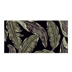 Jungle Leaves Tropical Pattern Satin Wrap by Nexatart