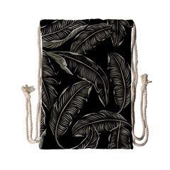 Jungle Leaves Tropical Pattern Drawstring Bag (small) by Nexatart