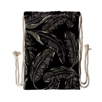 Jungle Leaves Tropical Pattern Drawstring Bag (Small) Front