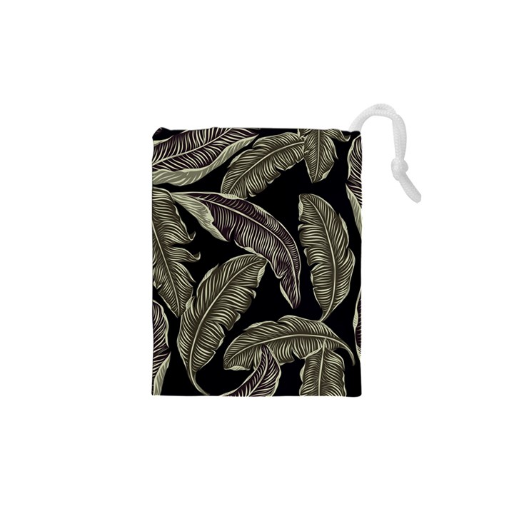 Jungle Leaves Tropical Pattern Drawstring Pouch (XS)