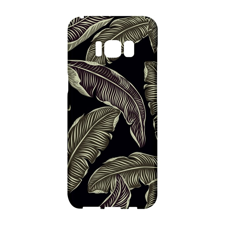 Jungle Leaves Tropical Pattern Samsung Galaxy S8 Hardshell Case