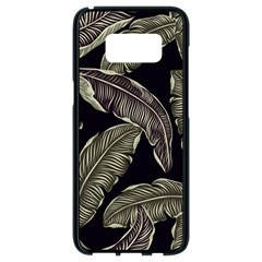 Jungle Leaves Tropical Pattern Samsung Galaxy S8 Black Seamless Case