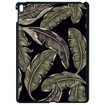 Jungle Leaves Tropical Pattern Apple iPad Pro 9.7   Black Seamless Case Front