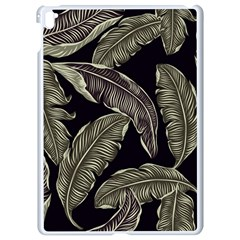 Jungle Leaves Tropical Pattern Apple Ipad Pro 9 7   White Seamless Case