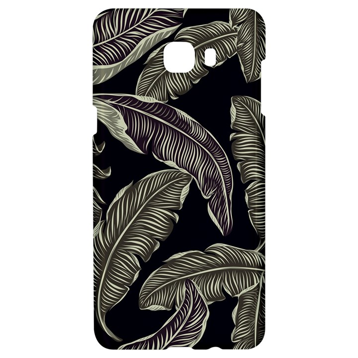 Jungle Leaves Tropical Pattern Samsung C9 Pro Hardshell Case