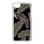 Jungle Leaves Tropical Pattern Apple iPhone 8 Seamless Case (White) Front