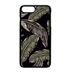 Jungle Leaves Tropical Pattern Apple iPhone 8 Plus Seamless Case (Black) Front