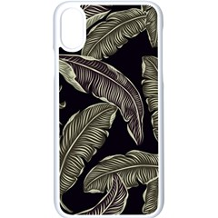 Jungle Leaves Tropical Pattern Apple Iphone X Seamless Case (white)