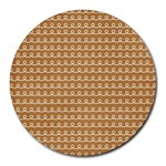 Gingerbread Christmas Round Mousepads Front