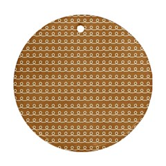 Gingerbread Christmas Ornament (Round)