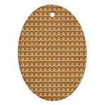 Gingerbread Christmas Ornament (Oval) Front