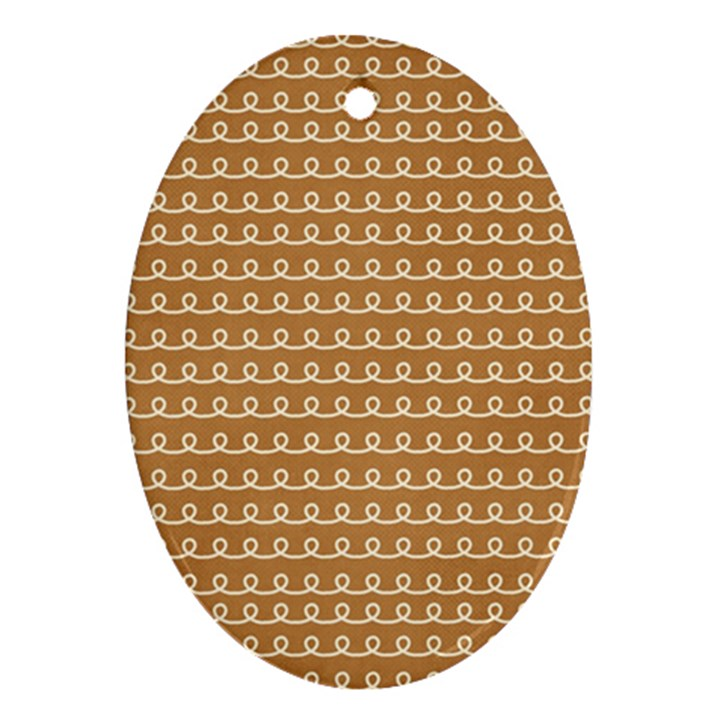 Gingerbread Christmas Ornament (Oval)