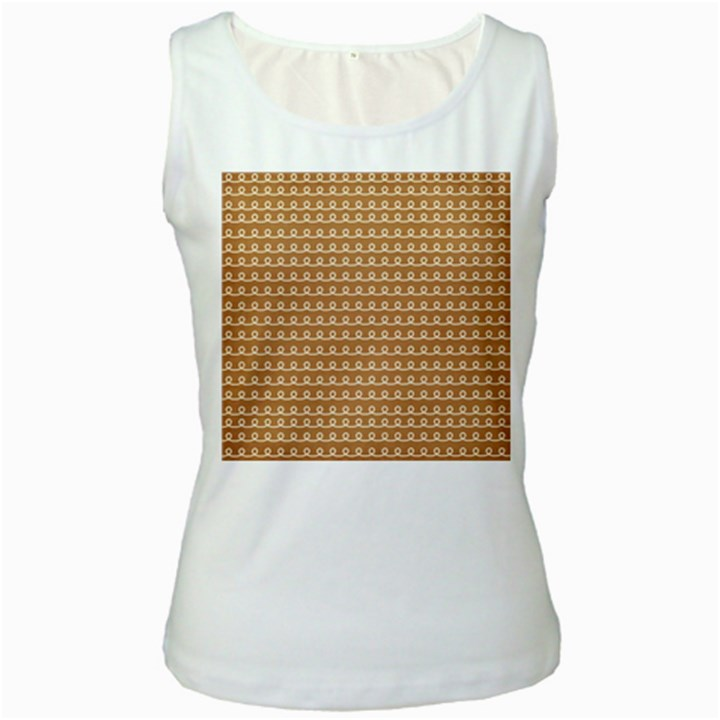 Gingerbread Christmas Women s White Tank Top