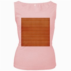 Gingerbread Christmas Women s Pink Tank Top