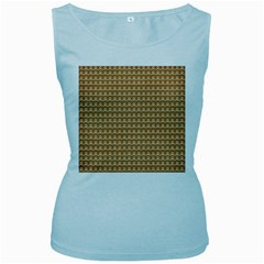 Gingerbread Christmas Women s Baby Blue Tank Top
