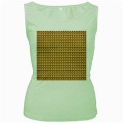 Gingerbread Christmas Women s Green Tank Top