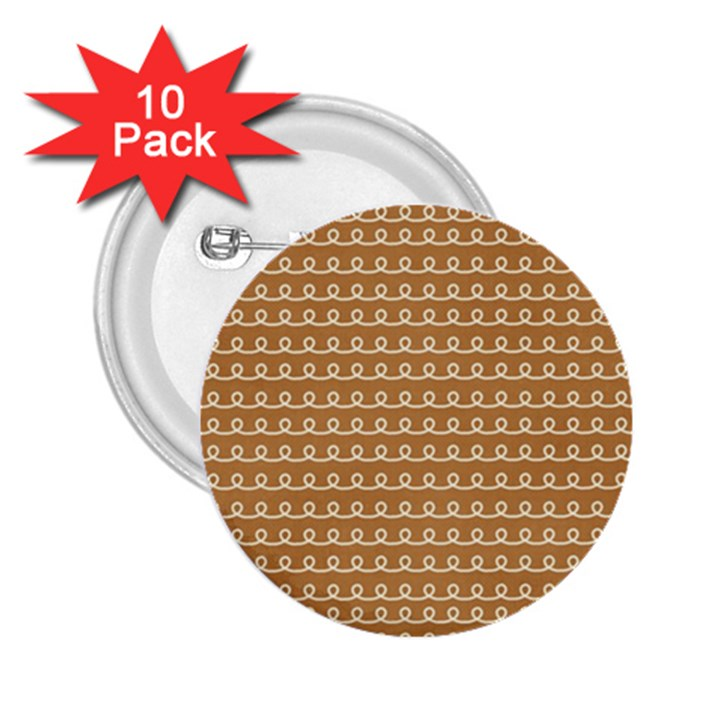 Gingerbread Christmas 2.25  Buttons (10 pack)