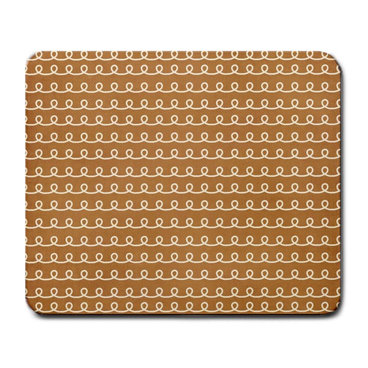 Gingerbread Christmas Large Mousepads