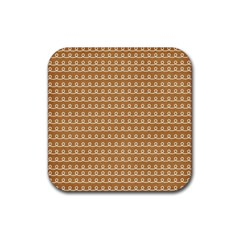 Gingerbread Christmas Rubber Square Coaster (4 pack)