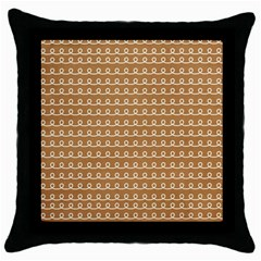 Gingerbread Christmas Throw Pillow Case (Black)