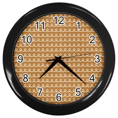 Gingerbread Christmas Wall Clock (Black)
