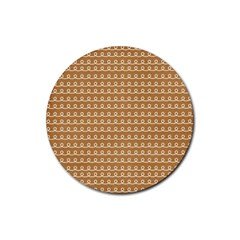 Gingerbread Christmas Rubber Round Coaster (4 pack)
