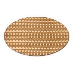 Gingerbread Christmas Oval Magnet