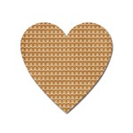 Gingerbread Christmas Heart Magnet Front