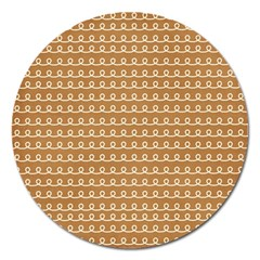 Gingerbread Christmas Magnet 5  (Round)
