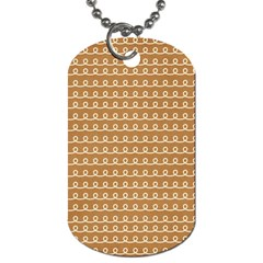 Gingerbread Christmas Dog Tag (One Side)