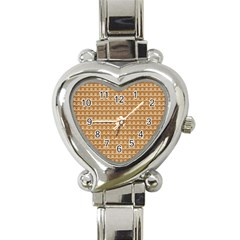 Gingerbread Christmas Heart Italian Charm Watch