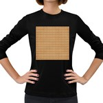 Gingerbread Christmas Women s Long Sleeve Dark T-Shirt Front