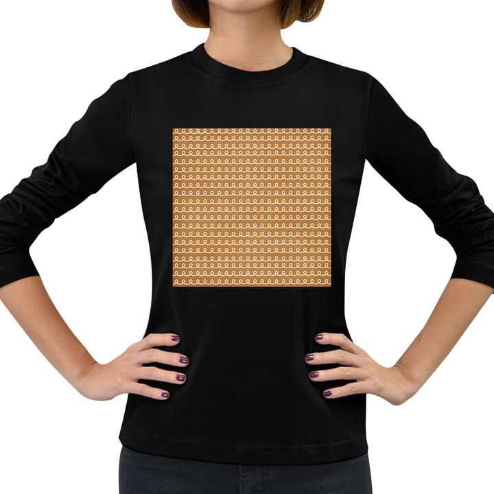 Gingerbread Christmas Women s Long Sleeve Dark T-Shirt