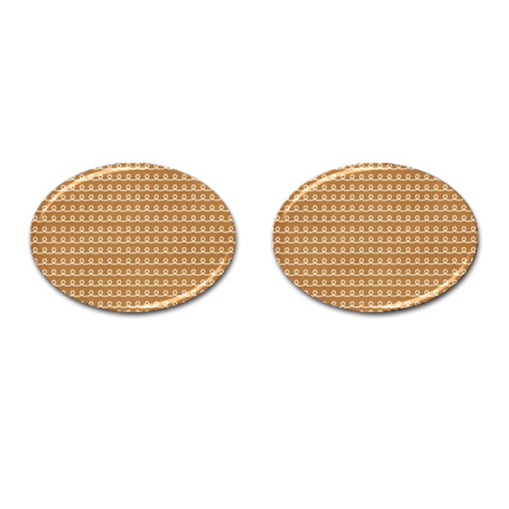 Gingerbread Christmas Cufflinks (Oval)