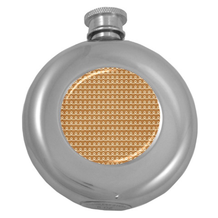 Gingerbread Christmas Round Hip Flask (5 oz)