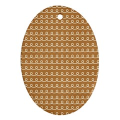 Gingerbread Christmas Oval Ornament (Two Sides)