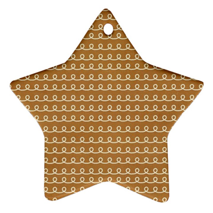 Gingerbread Christmas Star Ornament (Two Sides)
