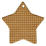 Gingerbread Christmas Star Ornament (Two Sides) Back