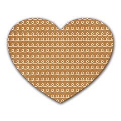 Gingerbread Christmas Heart Mousepads
